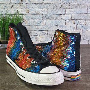 New Converse Chuck 70 Hi Rainbow Sequin Pride